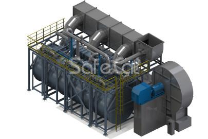 Установка промышленной очистки воздуха SC с блоком роторной концентрации