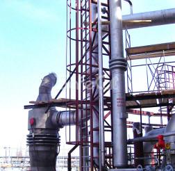 Монтажные работы дожигателя технологических газов