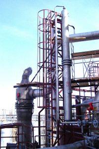 Монтаж дожигателя технологических газов