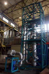 Установка окисления газовых выбросов, контрольная сборка на заводе